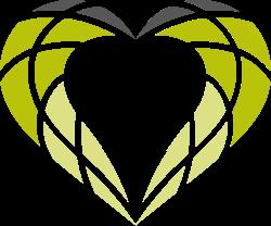 Grafische Darstellung eines Herzes mit Elementen des Logos vom Blindenhillfswerk Berlin e.V.