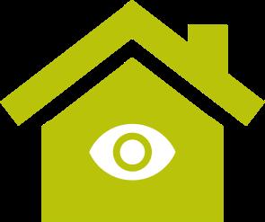 Grafische Darstellung eines Hauses